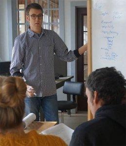 Phil Sanders teaching a business class